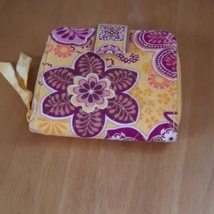 Vera Bradley Bali Gold snap wallet